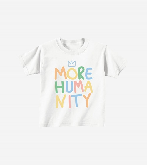 Pic of a t-shirt for kids with a colorful text