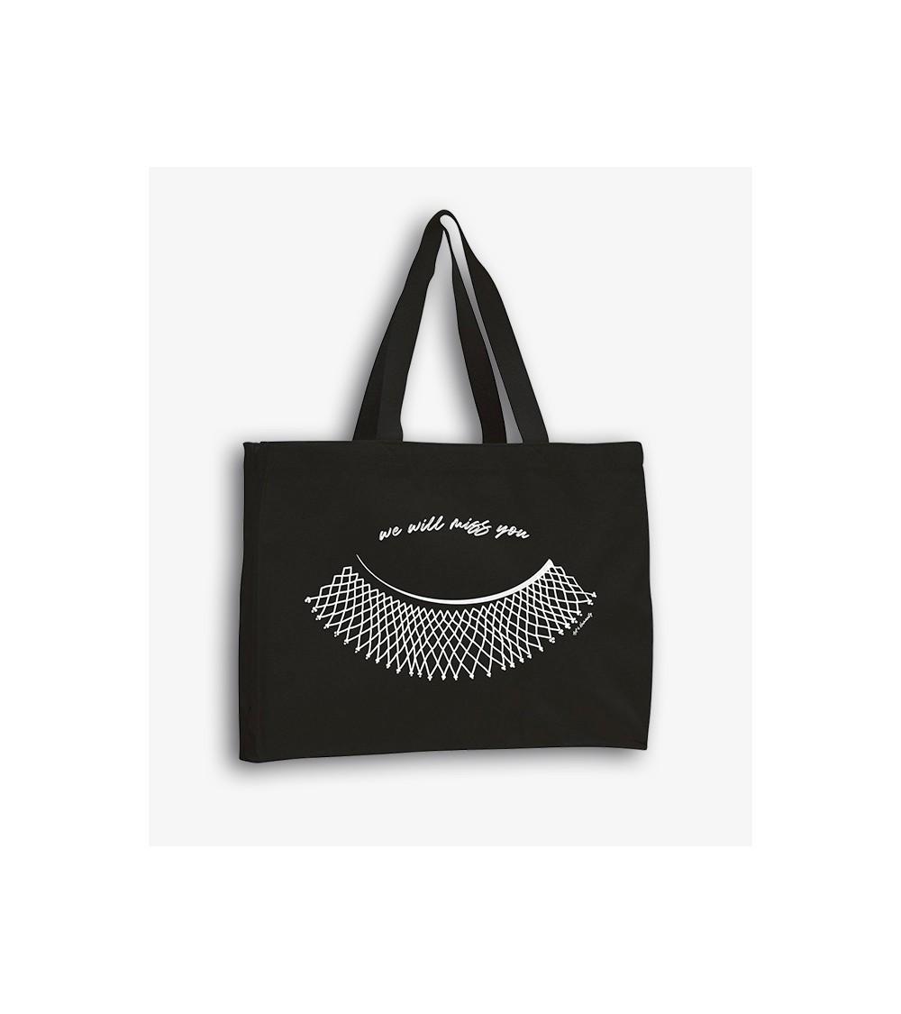 Black cotton tote bag RBG